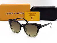 Женские солнцезащитные очки в стиле Louis Vuitton (234) green, фото 1