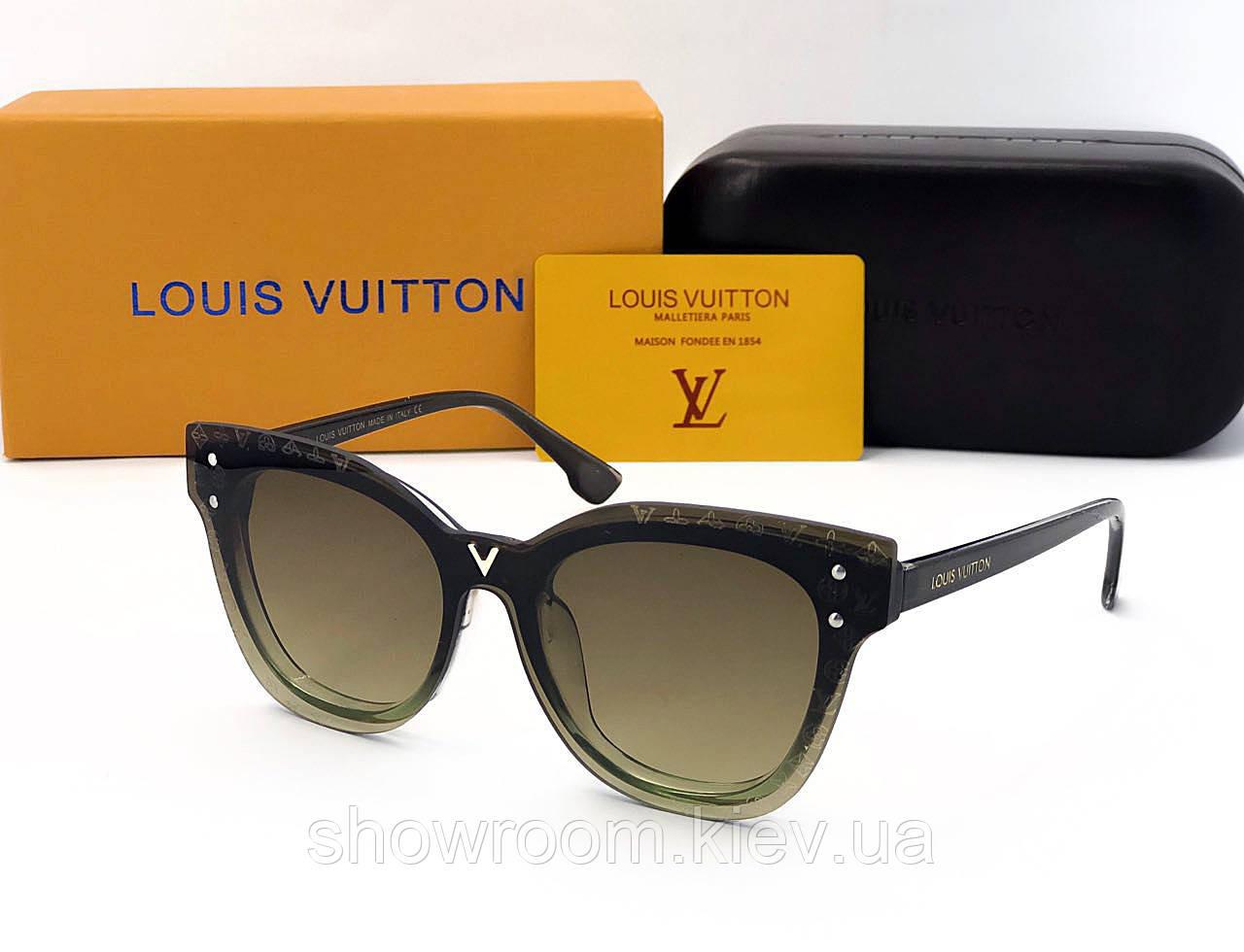 Женские солнцезащитные очки в стиле Louis Vuitton (234) green