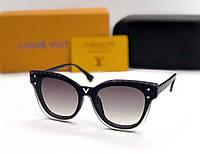 Женские солнцезащитные очки в стиле Louis Vuitton (234) black, фото 1