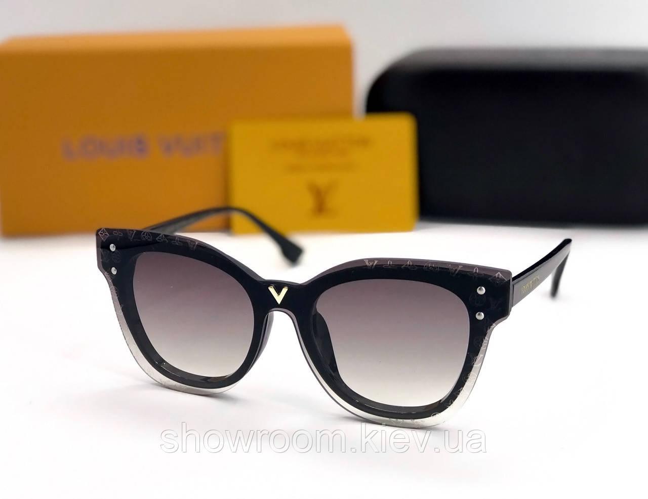 Женские солнцезащитные очки в стиле Louis Vuitton (234) black