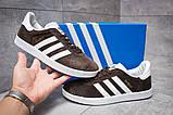 Кроссовки мужские Adidas Gazelle, коричневые (14132) размеры в наличии ► [  41 43  ], фото 2