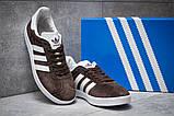Кроссовки мужские Adidas Gazelle, коричневые (14132) размеры в наличии ► [  41 43  ], фото 3