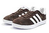 Кроссовки мужские Adidas Gazelle, коричневые (14132) размеры в наличии ► [  41 43  ], фото 7
