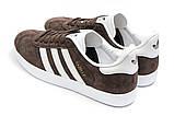 Кроссовки мужские Adidas Gazelle, коричневые (14132) размеры в наличии ► [  41 43  ], фото 8