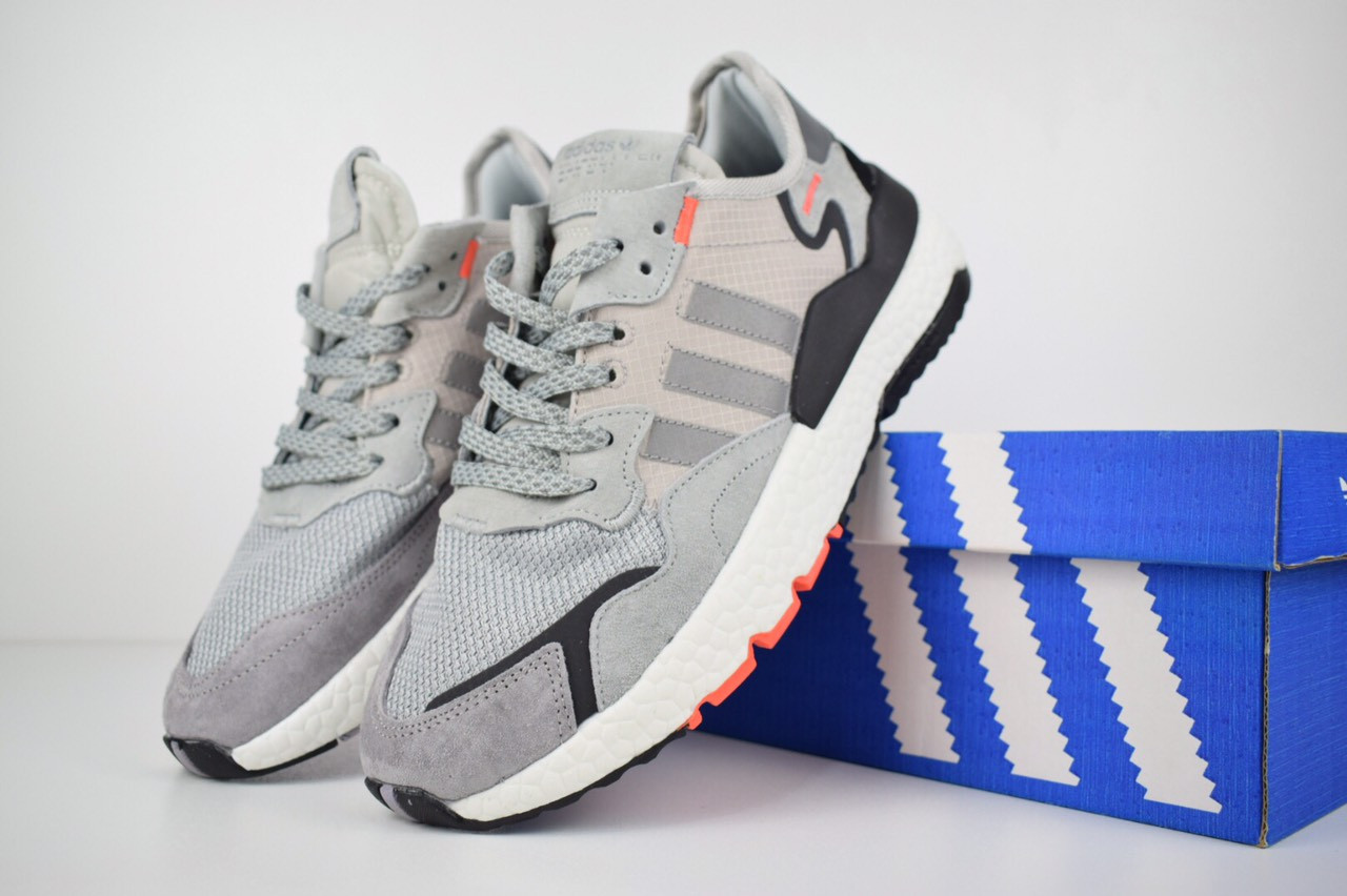 12ba5aac Мужские спортивные кроссовки в стиле Adidas Nite Jogger, серые - Интернет  магазин