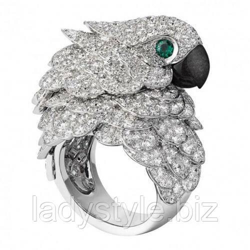 """Оригинальное кольцо  """"Какаду"""", размеры 18, 19 от студии  LadyStyle.Biz"""