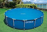 Тент солнечный прозрачный для бассейнов (305 см) intex , фото 3