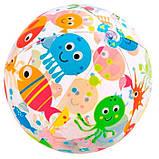 Мяч пляжный надувной разноцветный 51см, фото 3