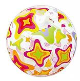 Мяч пляжный надувной разноцветный 51см, фото 4