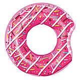 Стильный надувной круг пончик, 107 см, фото 4