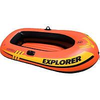 Гребная лодка с вёслами и насосом Intex Explorer 185-94-41 см, фото 1