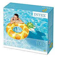 Большой надувной матрас ананас для плавания на пляж (117х86 см), фото 1