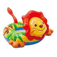 Яркий надувной круг для малышей intex лягушка 89-69см, львенок 72-66см, дракончик 76-56см