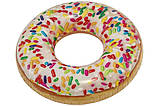 Надувной круг intex пончик с присыпкой 114см 14+, фото 2