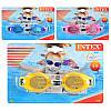 Детские очки для плавания интекс , 3-8 лет, 3 цвета, регулируемый ремешок