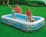 Надувной семейный бассейн тропический риф   305х183х56см, фото 2