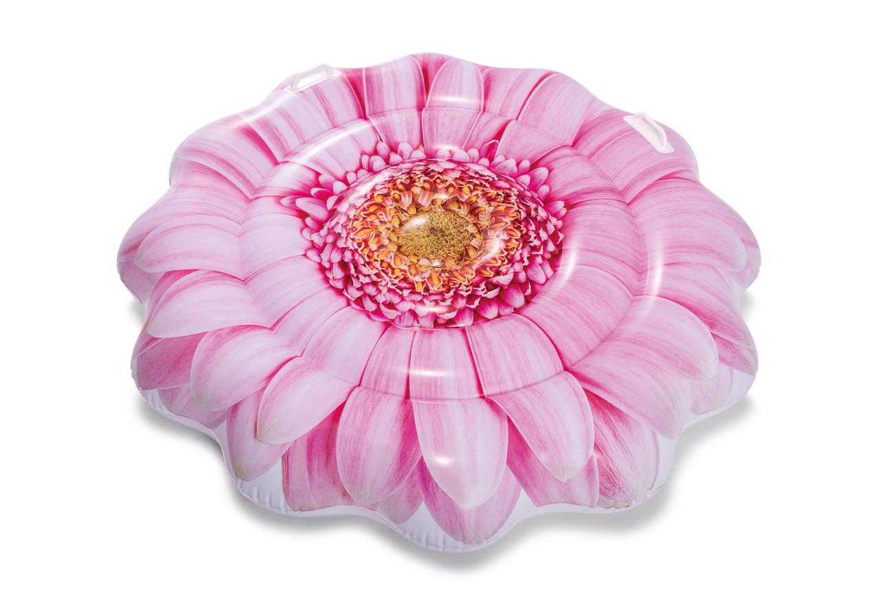 """Плот для плавания """"розовый цветок"""" 142см, intex"""