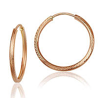 Серьги-кольца золотые без вставок С003/1 Eurogold