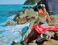 Картина по номерам На скалистом берегу Rainbow Art GX8609