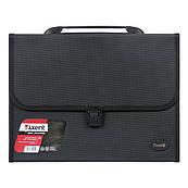 Портфель пластиковый Axent А4 на 12 отделений, черный 1604-01-A