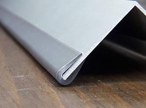 Окантовочный | Торцевой пластиковый профиль для плоских материалов толщиной 0,5-2мм. Цвет серый.