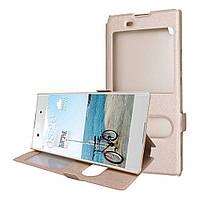 Чехол Window для Sony Xperia XA1 Ultra G3212 / G3221 / G3223 / G3226 книжка Gold