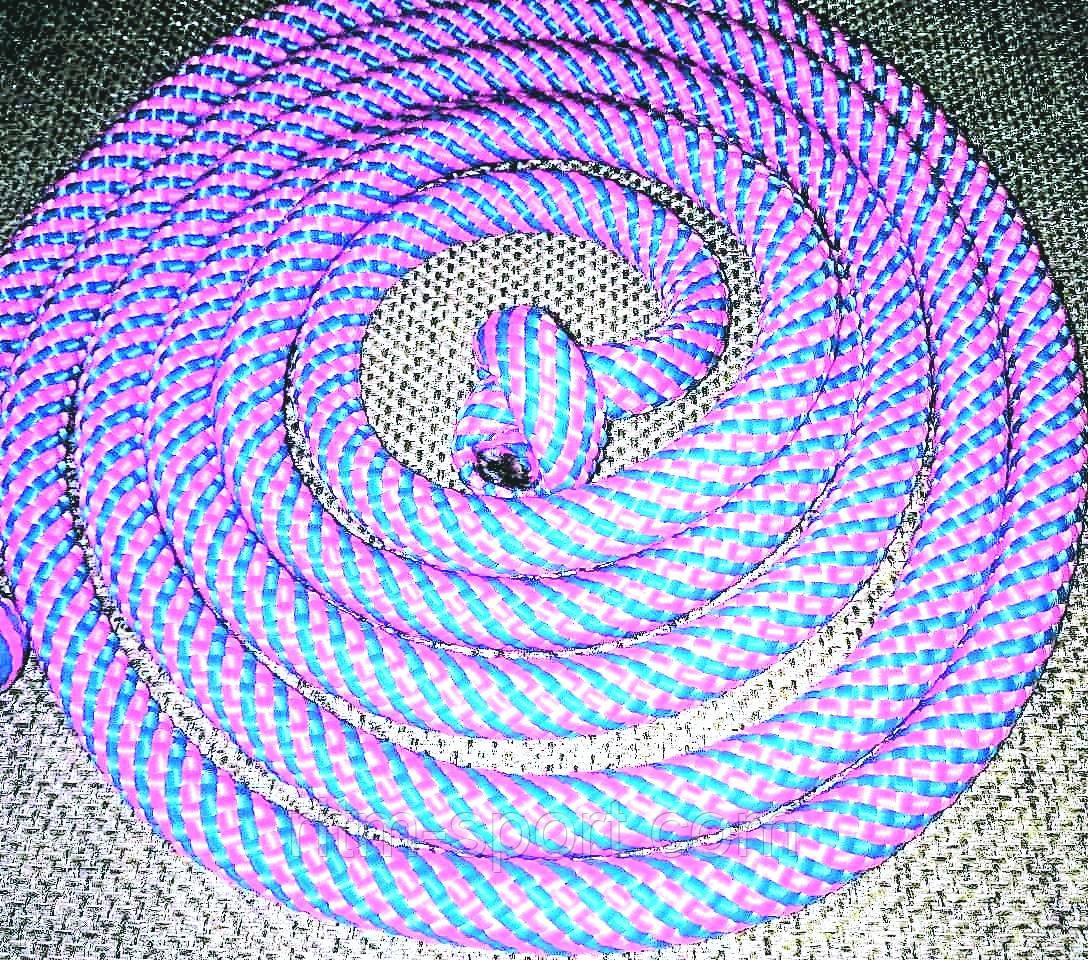 Скакалка мотузкові 3 м (Рожевий/Блакитний)