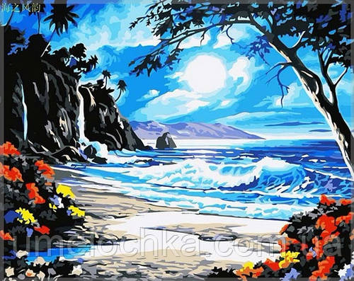 Картина по номерам на холсте Menglei Тропические сумерки