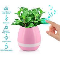 Умный музыкальный цветочный горшок Smart Music Flowerpot Розовый - 133118