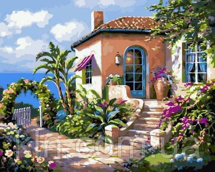 Картина по номерам Babylon Солнечный полдень у моря VP216 40 х 50 см