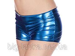 Шорты Wetlook  для фитнеса  женские, один размер SL  Синий
