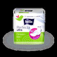 """Прокладки гигиенические """"BELLA"""" Perfecta Ultra Green №10"""