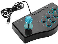 Аркадний ігровий геймпад USB Rocker  синій