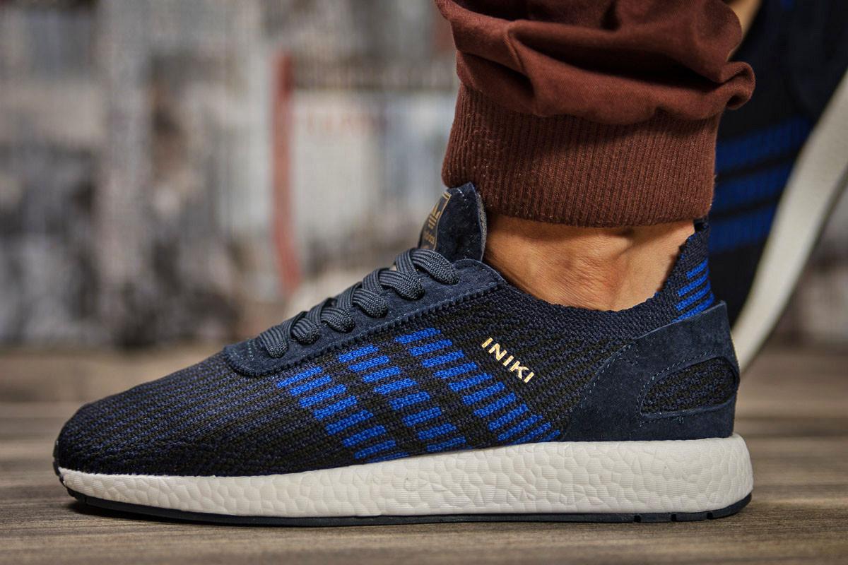 Кроссовки мужские Adidas Iniki, темно-синие (15332) размеры в наличии ► [  43 44 45 46  ]
