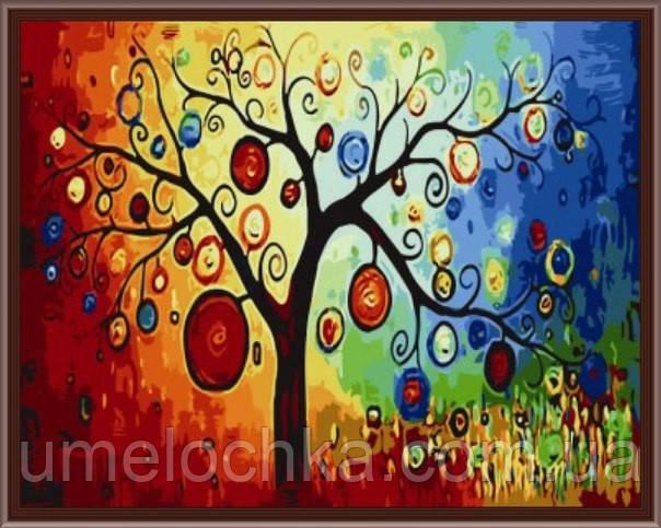 Раскраска по цифрам Идейка Дерево богатства KH230