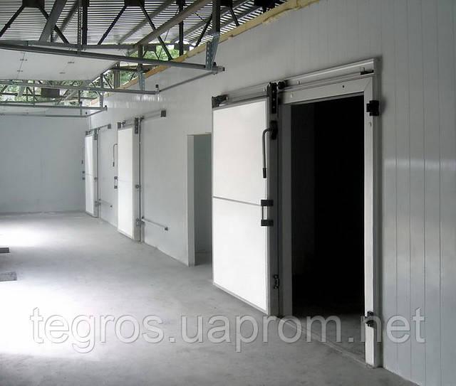 Двери откатные и распашные  для морозильных и холодильных камер, овощехранилище