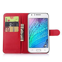 Чохол-книжка Litchie Wallet для Samsung J700 Galaxy J7 Червоний