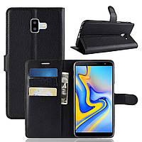 Чехол-книжка Litchie Wallet для Samsung j610 Черный, фото 1