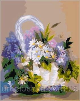 Раскраска по номерам Идейка Ромашки в корзинке KH276