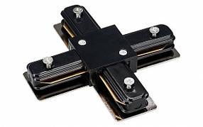 Соединитель для шинопровода PHS(+) крестовой однофазный 16A черный Код. 59528