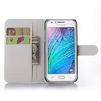 Чехол-книжка Litchie Wallet для Samsung J500 Galaxy J5 Белый