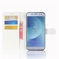 Чехол-книжка Litchie Wallet для Samsung J330 Galaxy J3 2017 Белый