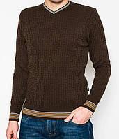 Легкий мужской свитер М цвет джинс