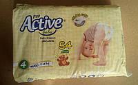 PRO AKTIVE Детские подгузники 4 maxi *54шт (для детей весом от 9 до 16 кг)