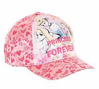 Розовая детская кепка для девочки Princess, Disney (PR0206)
