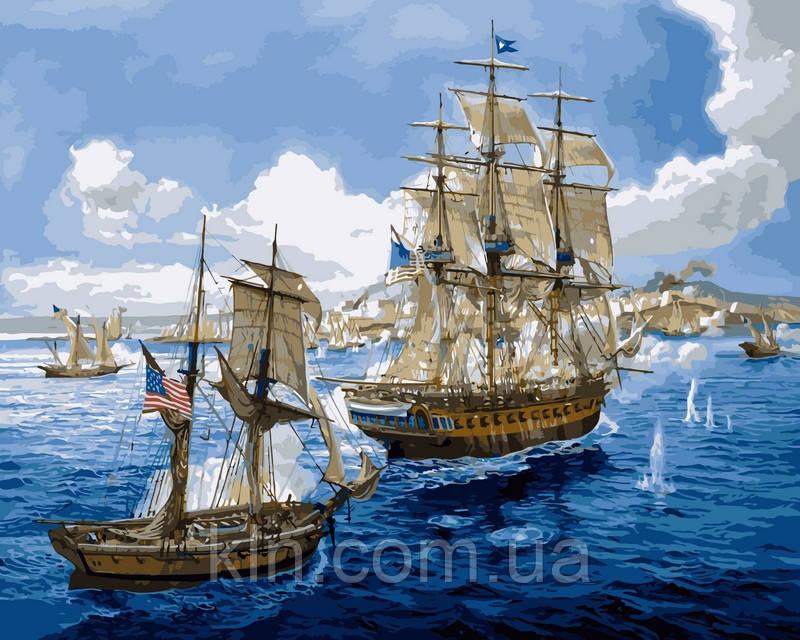 Картина по номерам Babylon Морское сражение VP259 40 х 50 см