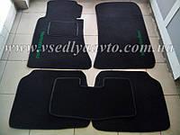 Ворсовые коврики в салон Mercedes W124 (Черные)