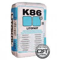 """LITOFAST K86 - Клей быстрого схватывания с нулевым вертикальным скольжением""""Litokol"""""""