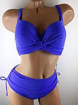 Купальник с мягкой чашкой Кольцо 85343 синий на 52 размер, фото 2