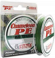 Шнур Fanatik Chameleon PE X4 100 м Ил-Трава #0,4/0,10 мм 4,5 кг/10 lb